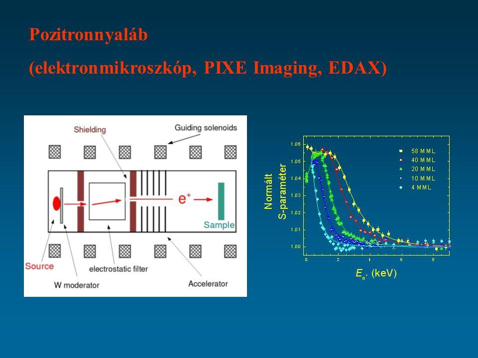Pozitronnyaláb (elektronmikroszkóp, PIXE Imaging, EDAX)