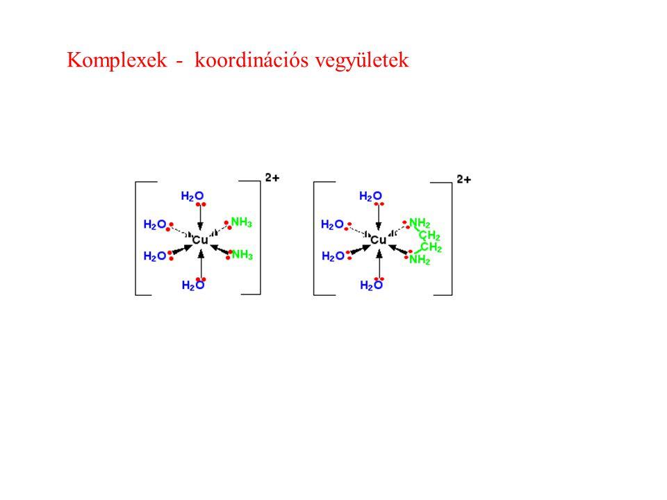 Komplexek - koordinációs vegyületek