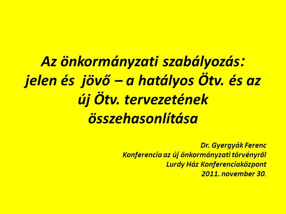 Helyi önkormányzatok működése Ötv.6.