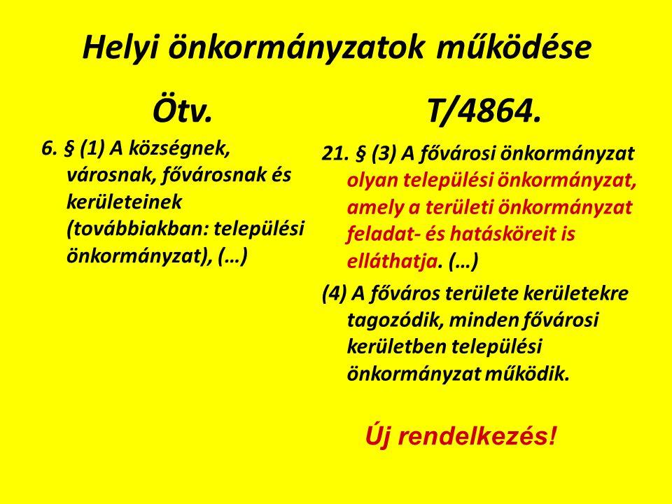 Helyi önkormányzatok működése Ötv. 6.