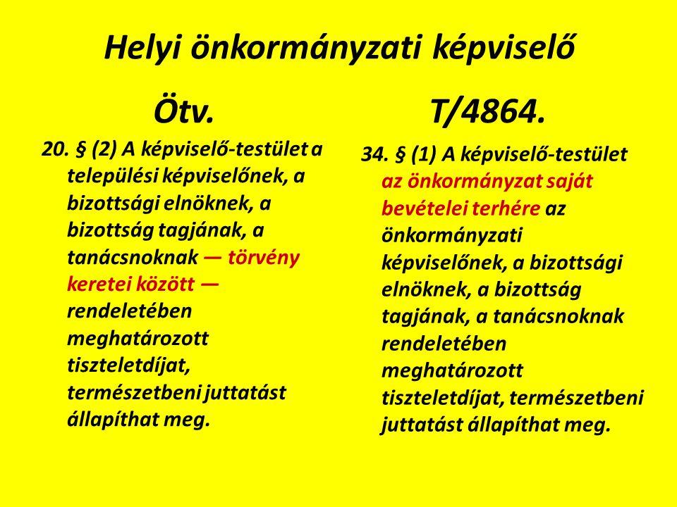 Helyi önkormányzati képviselő Ötv. 20.