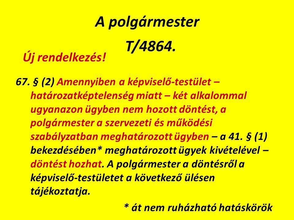 A polgármester T/4864. 67.
