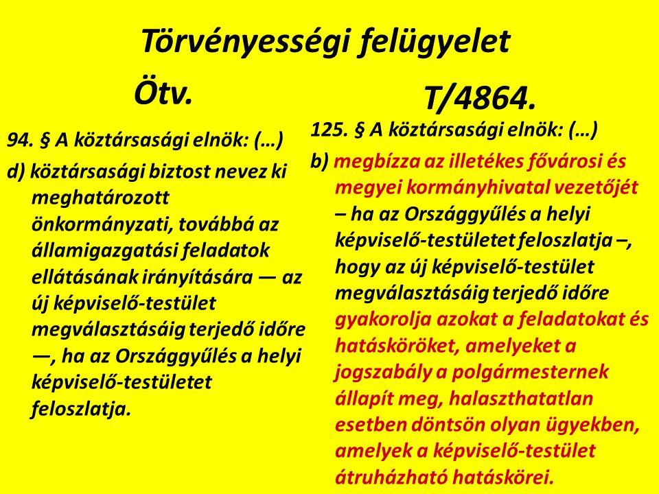 Törvényességi felügyelet Ötv. 94.