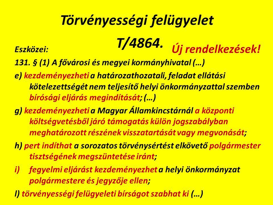 Törvényességi felügyelet T/4864. Eszközei: 131.