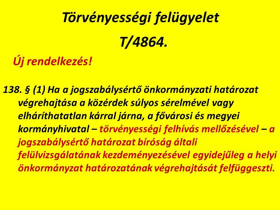Törvényességi felügyelet T/4864. 138.