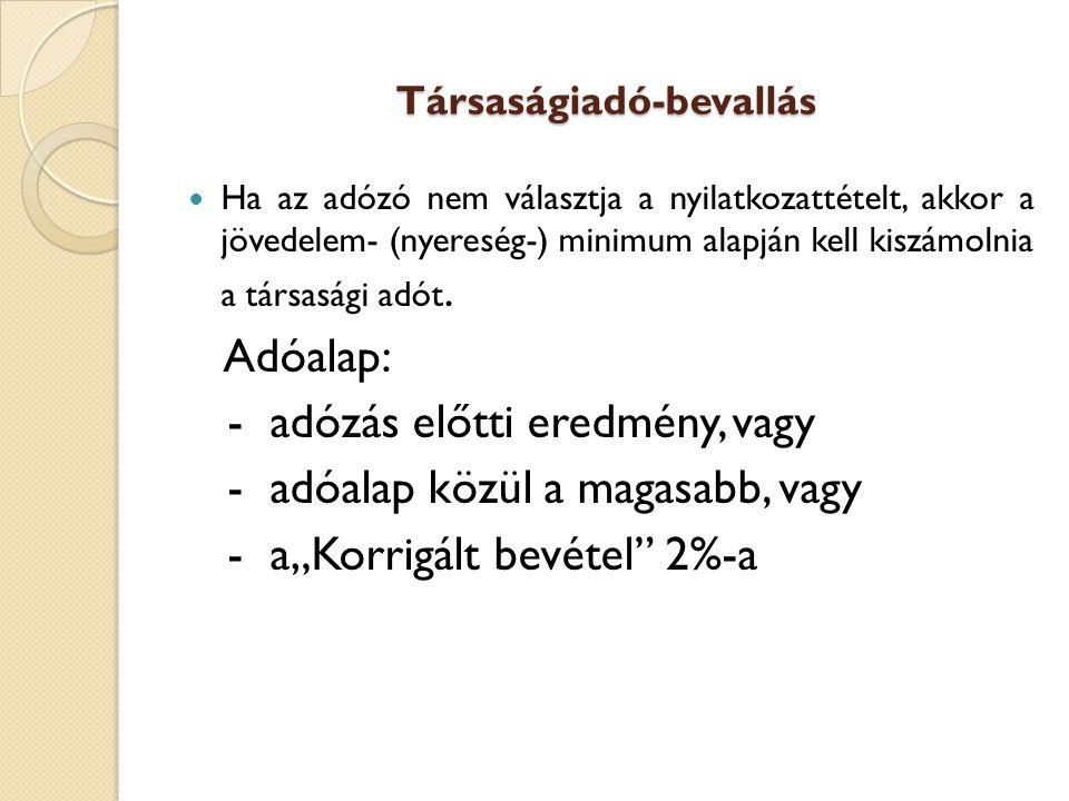 90 Beszámoló benyújtása Sztv.