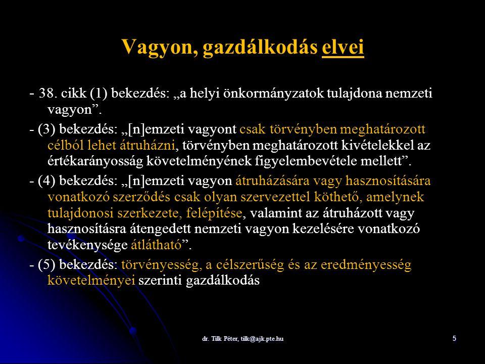 dr.Tilk Péter, tilk@ajk.pte.hu 6 Vagyon, gazdálkodás, tulajdon 34.