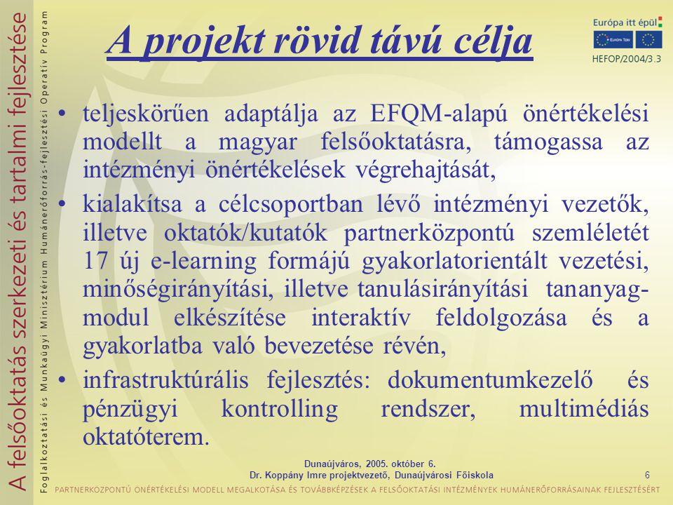 Dunaújváros, 2005. október 6. Dr.
