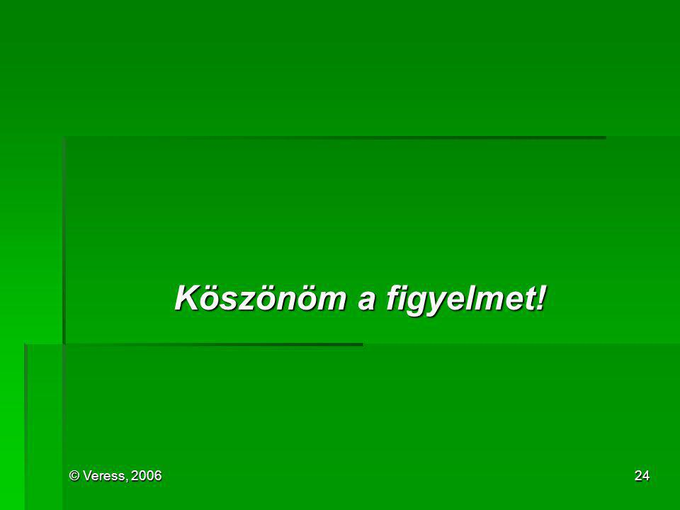 © Veress, 200624 Köszönöm a figyelmet!
