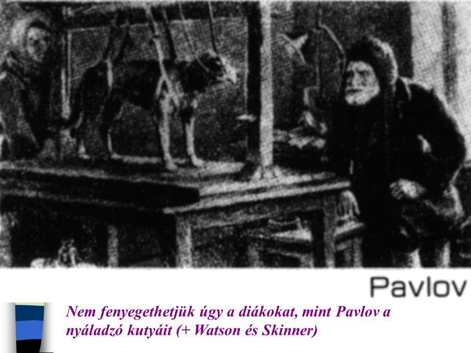 Nem fenyegethetjük úgy a diákokat, mint Pavlov a nyáladzó kutyáit (+ Watson és Skinner)
