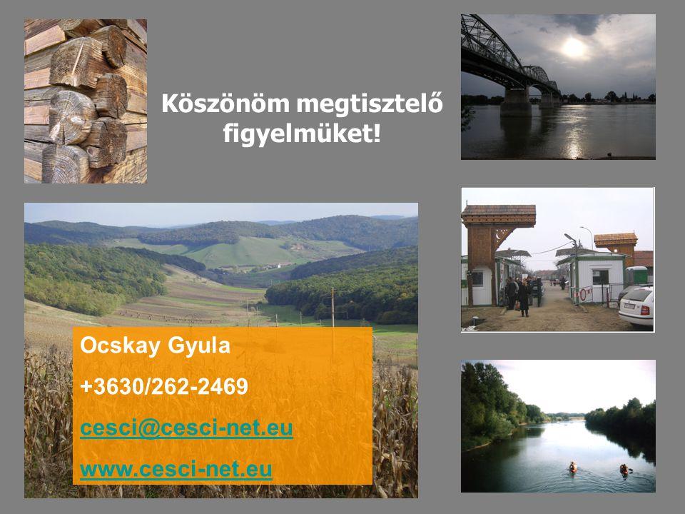 Köszönöm megtisztelő figyelmüket! Ocskay Gyula +3630/262-2469 cesci@cesci-net.eu www.cesci-net.eu