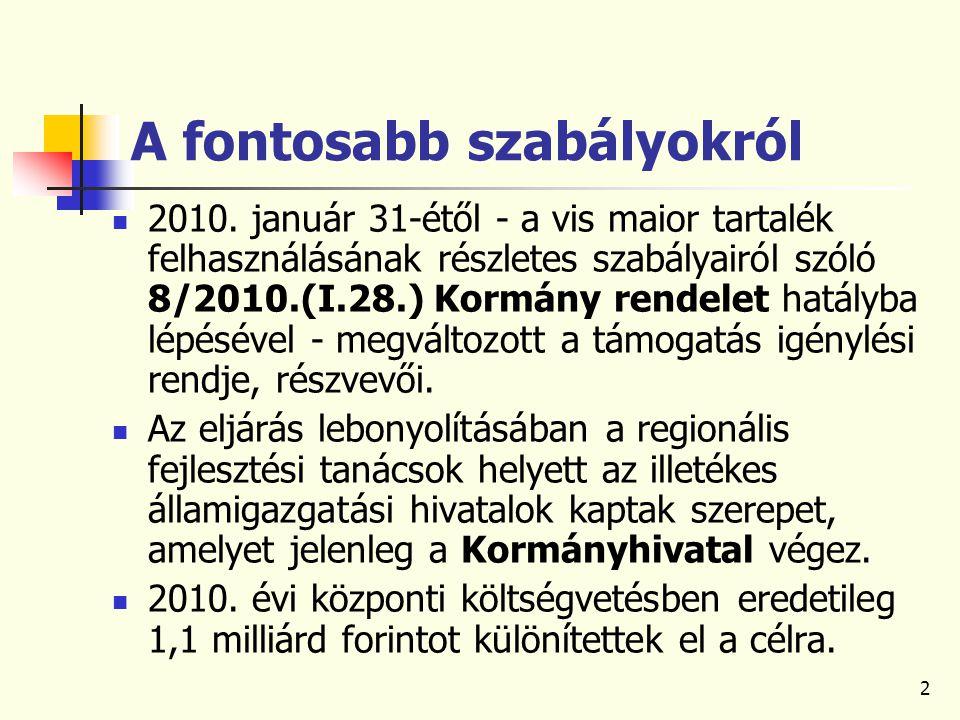 2 A fontosabb szabályokról 2010.
