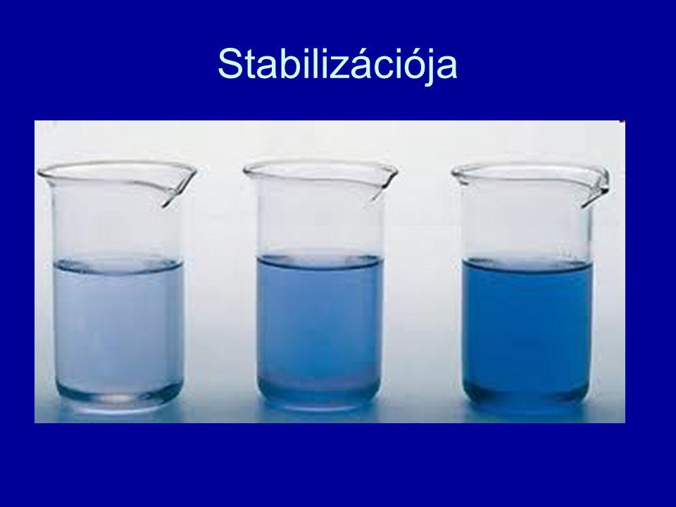 Stabilizációja Fémes kötéssel fémrácsot képez.