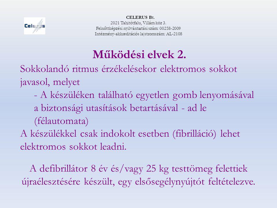 CELERUS Bt. 2021 Tahitótfalu, Villám köz 3. Felnőttképzési nyilvántartási szám: 00258-2009 Intézmény-akkreditációs lajstromszám: AL-2108 Működési elve