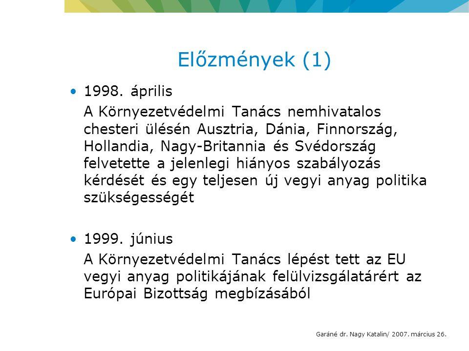 Előzmények (1) 1998.