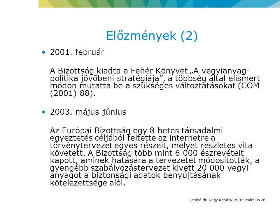 Előzmények (2) 2001.