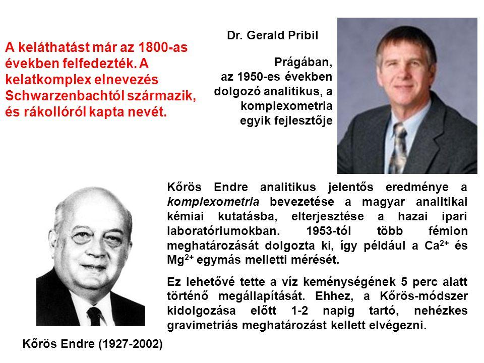 Kőrös Endre (1927-2002) Kőrös Endre analitikus jelentős eredménye a komplexometria bevezetése a magyar analitikai kémiai kutatásba, elterjesztése a ha