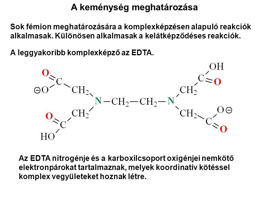 Sok fémion meghatározására a komplexképzésen alapuló reakciók alkalmasak. Különösen alkalmasak a kelátképződéses reakciók. A leggyakoribb komplexképző