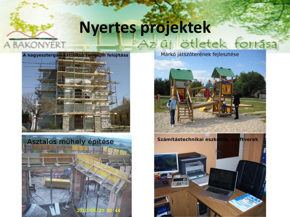 Nyertes projektek