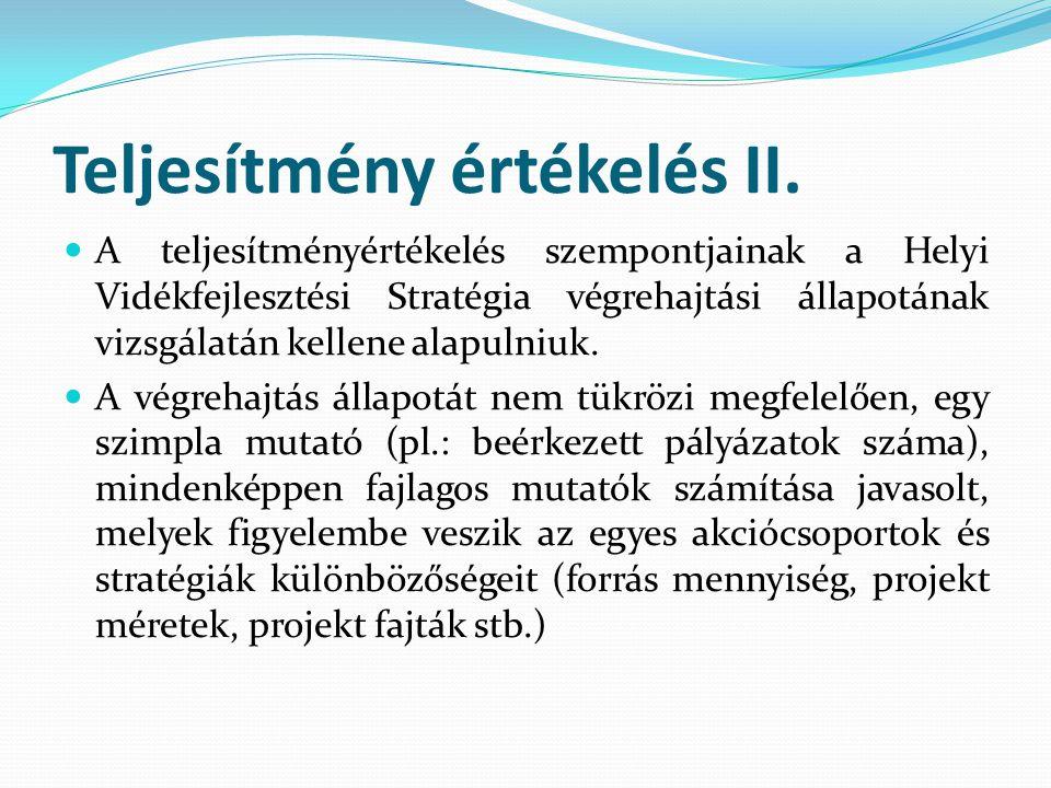 Teljesítmény értékelés II.