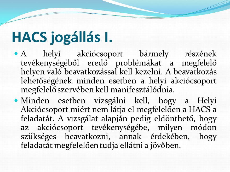 HACS jogállás I.