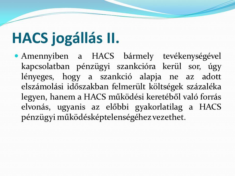 HACS jogállás II.