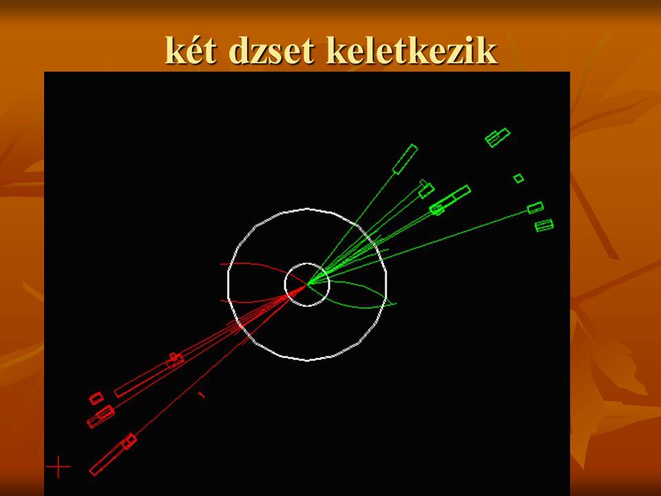 Tau-részecskék keletkeznek