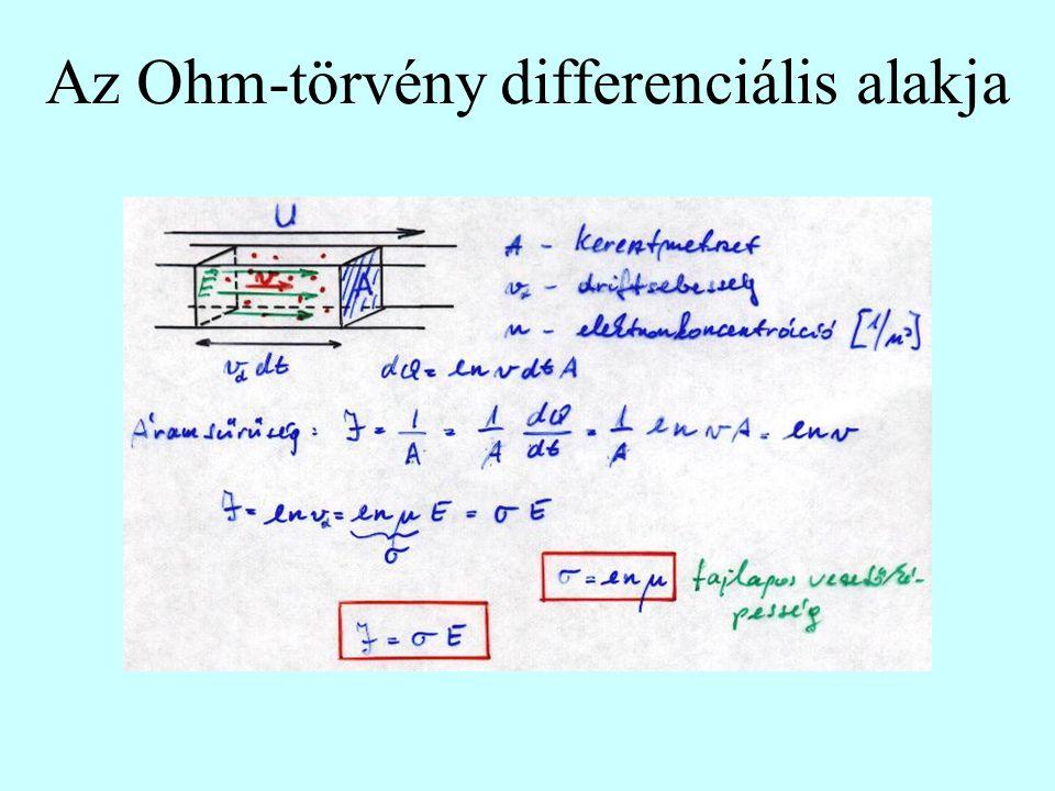 Az Ohm-törvény differenciális alakja