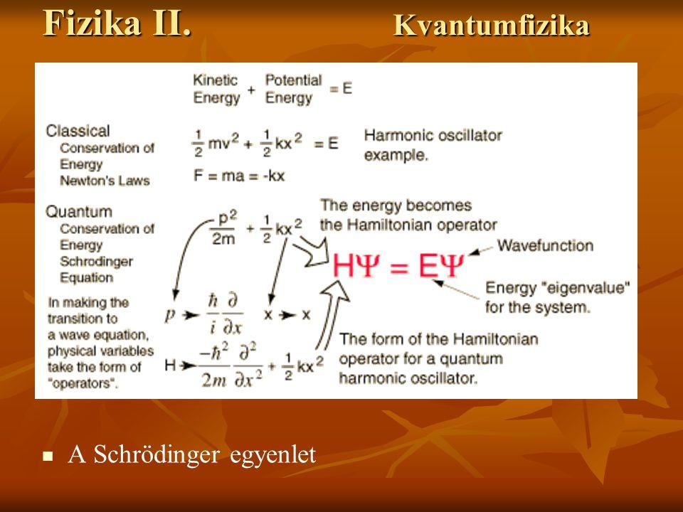 Fizika II. Kvantumfizika