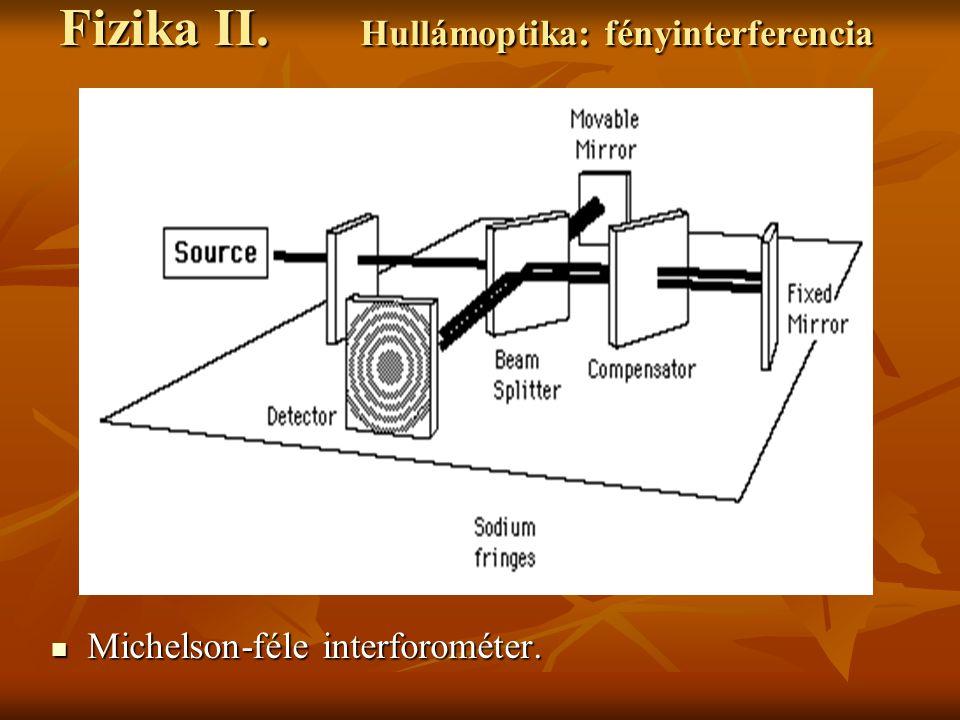 Michelson-féle interforométer.Michelson-féle interforométer.