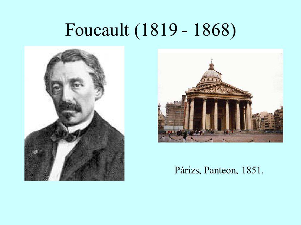 Foucault (1819 - 1868) Párizs, Panteon, 1851.