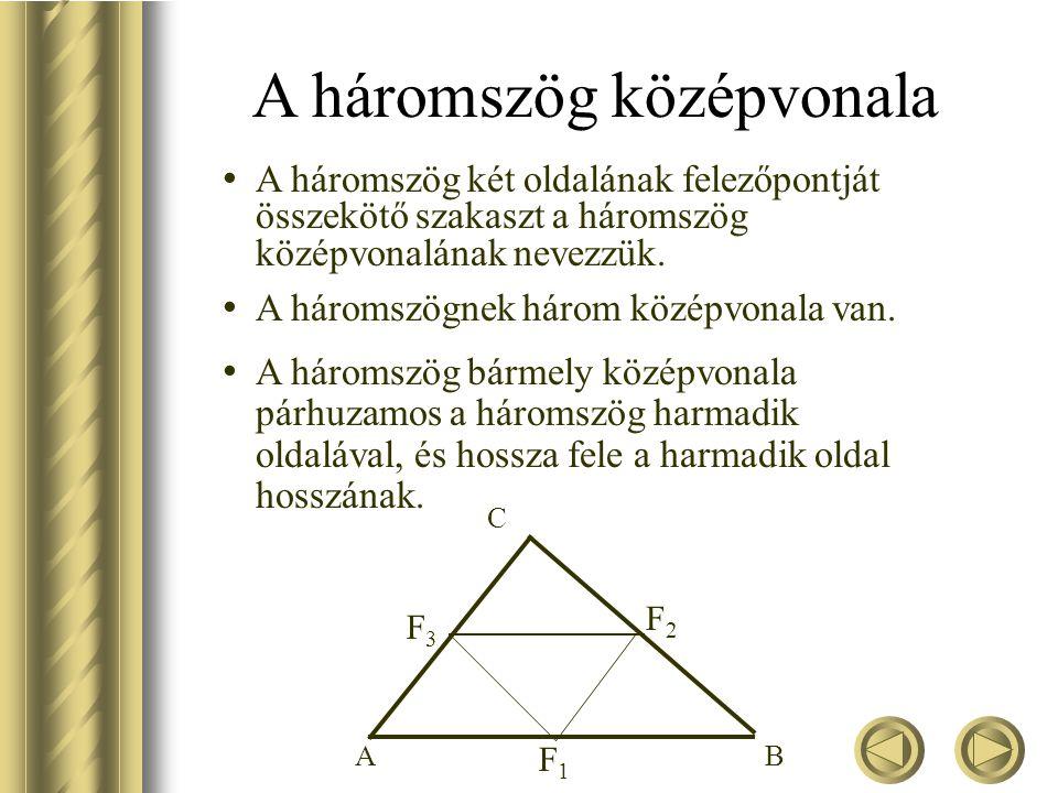 A háromszög magasságvonalai Hasonlóan ma ma a B'C' oldal felező merőlegese és mb mb a C'A' oldal felező merőlegese Az oldalfelező merőlegesek egy pont