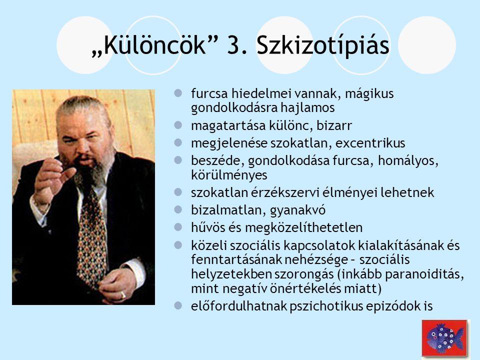 """""""Szkizo- SzkizofréniaSzkizoid szem.zav.Szkizotípiás zavar - Észlelés zavara - szokatlan érzéksz."""
