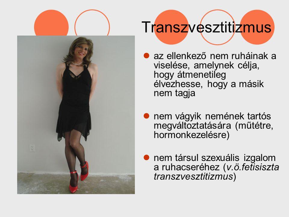 Transzvesztitizmus az ellenkező nem ruháinak a viselése, amelynek célja, hogy átmenetileg élvezhesse, hogy a másik nem tagja nem vágyik nemének tartós