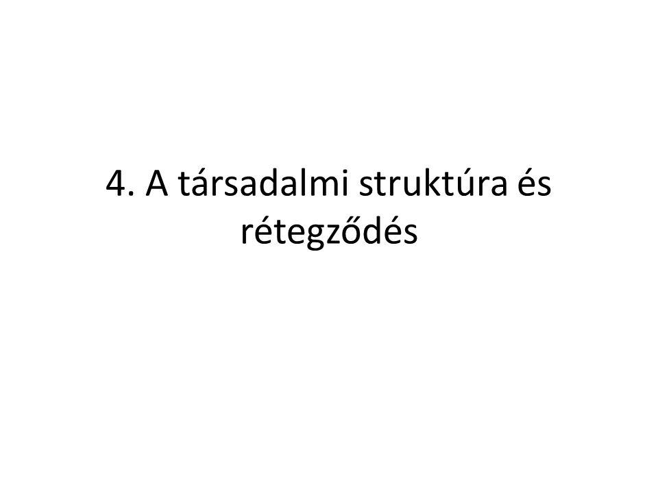 4. A társadalmi struktúra és rétegződés