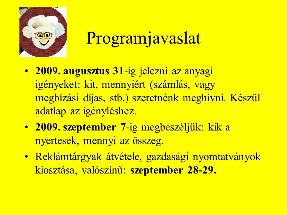 Programjavaslat 2009.