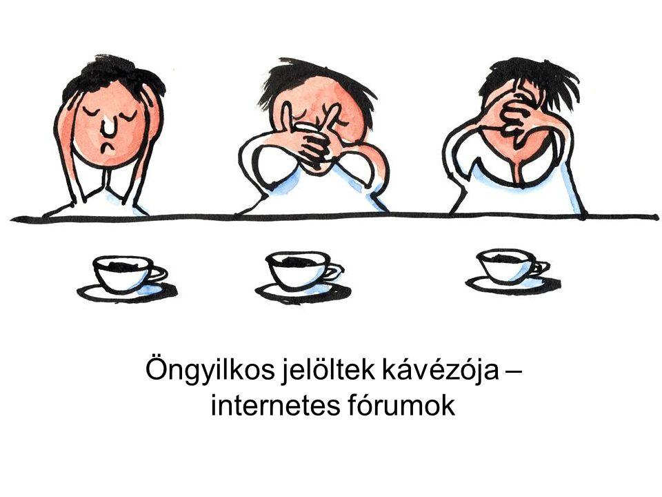 A magyar fórumok jellemzői Kevés van (15) Veszélyes: módszereket közöl5 Veszélyes: bátorít0 Tartalmában nem veszélyes, de az előbbi 3 feltétel nem teljesül 4 Tartalmában nem veszélyes, az előbbi 3 feltétel nem teljesül, de szakember elérhető 1 Irreleváns5