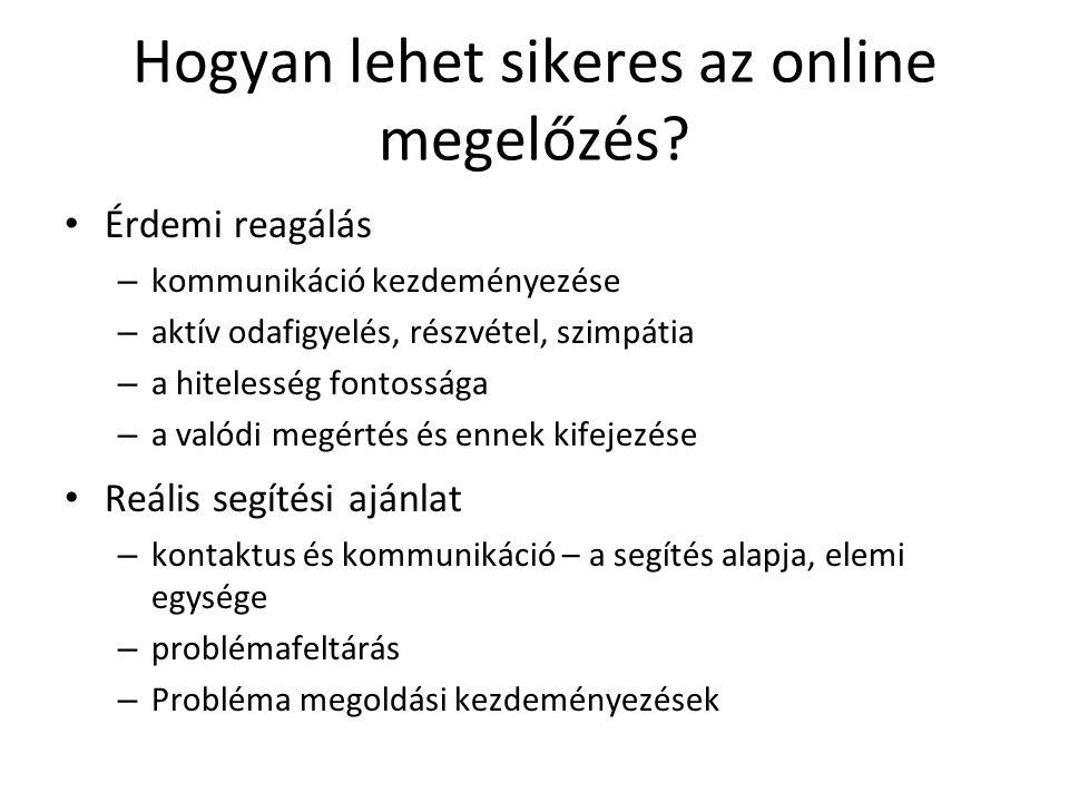 Hogyan lehet sikeres az online megelőzés.
