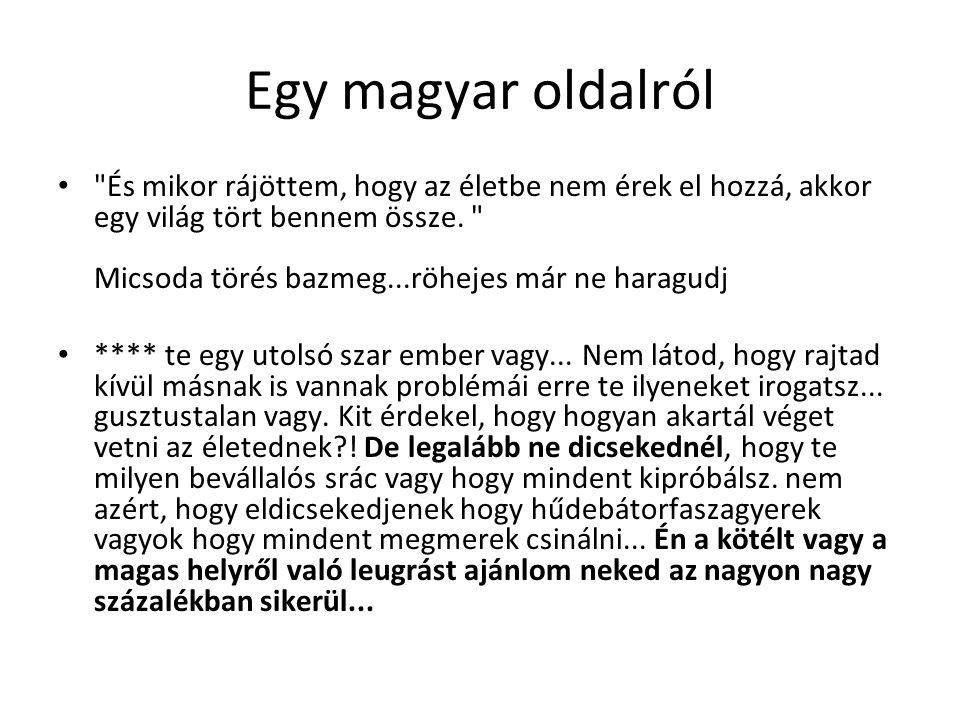Egy magyar oldalról És mikor rájöttem, hogy az életbe nem érek el hozzá, akkor egy világ tört bennem össze.