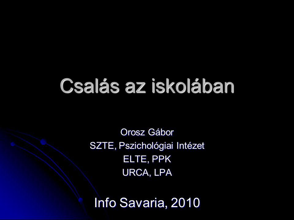Csalás az iskolában Orosz Gábor SZTE, Pszichológiai Intézet ELTE, PPK URCA, LPA Info Savaria, 2010