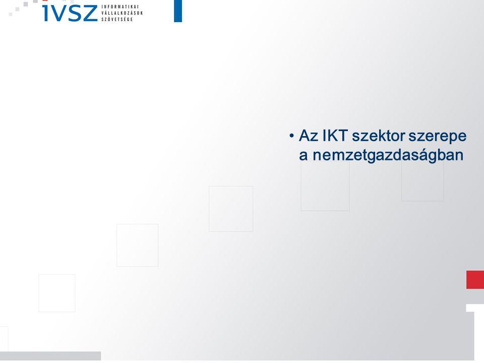 Az IKT szektor szerepe a nemzetgazdaságban
