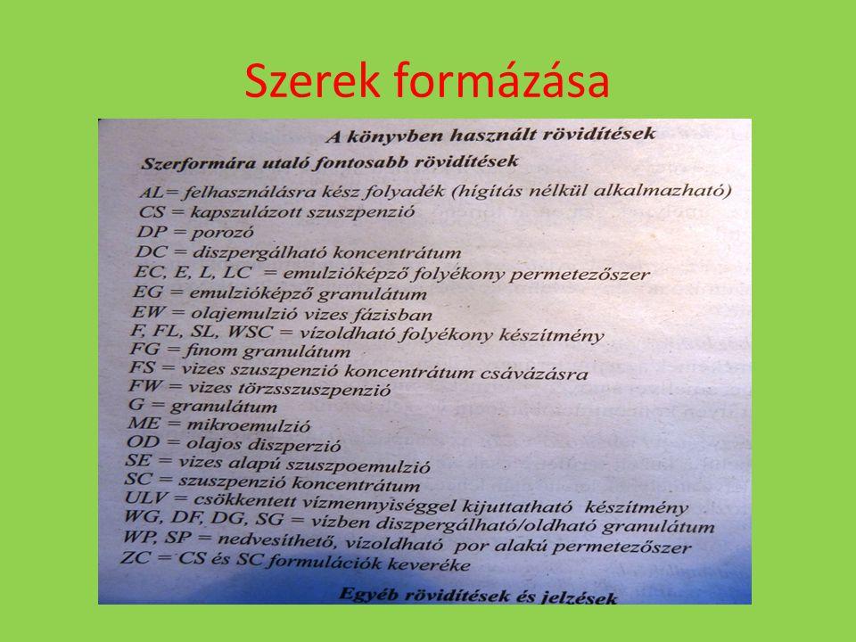 Szerek hatásmód szerinti csoportosítása - Felszívódó (szisztemikus) szerek pl.