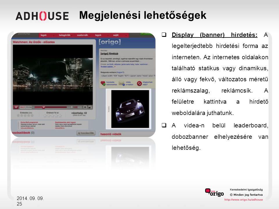  Display (banner) hirdetés: A legelterjedtebb hirdetési forma az interneten.
