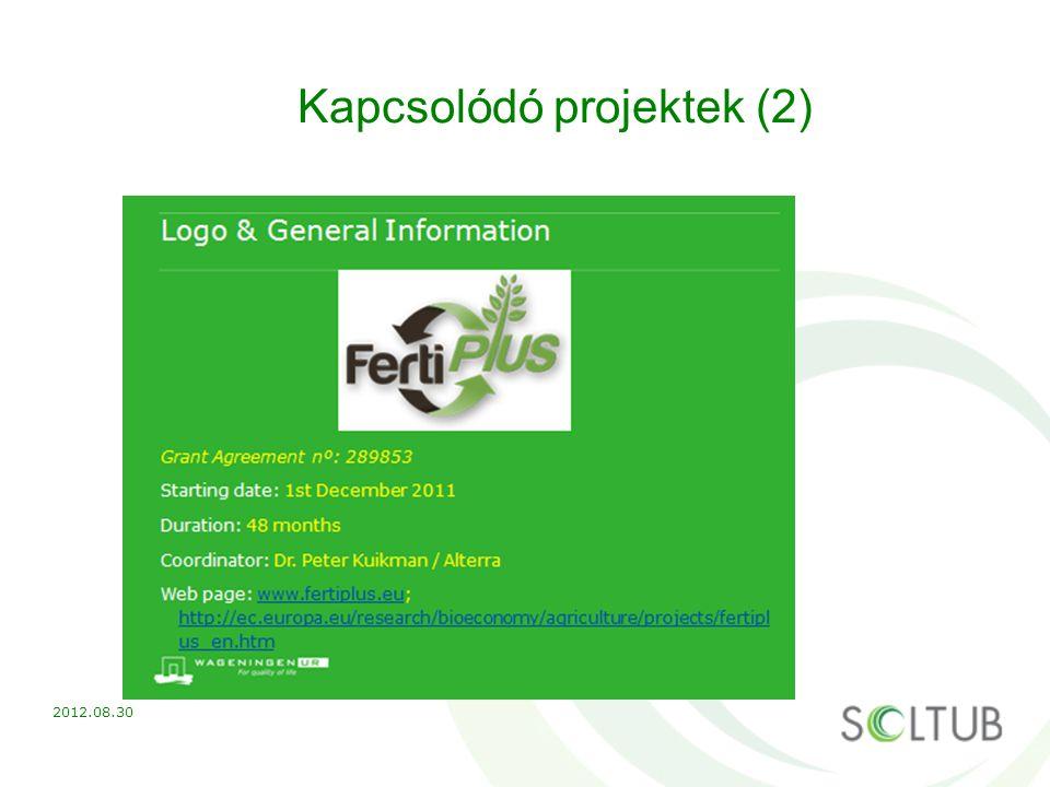 Kapcsolódó projektek (2) 2012.08.30