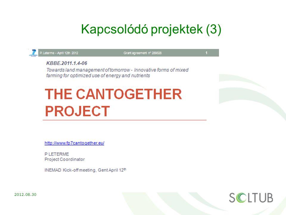Kapcsolódó projektek (3) 2012.08.30