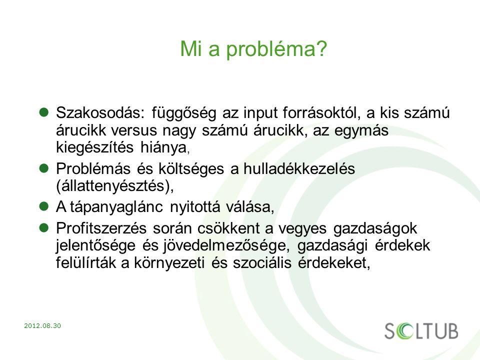 Mi a probléma? Szakosodás: függőség az input forrásoktól, a kis számú árucikk versus nagy számú árucikk, az egymás kiegészítés hiánya, Problémás és kö