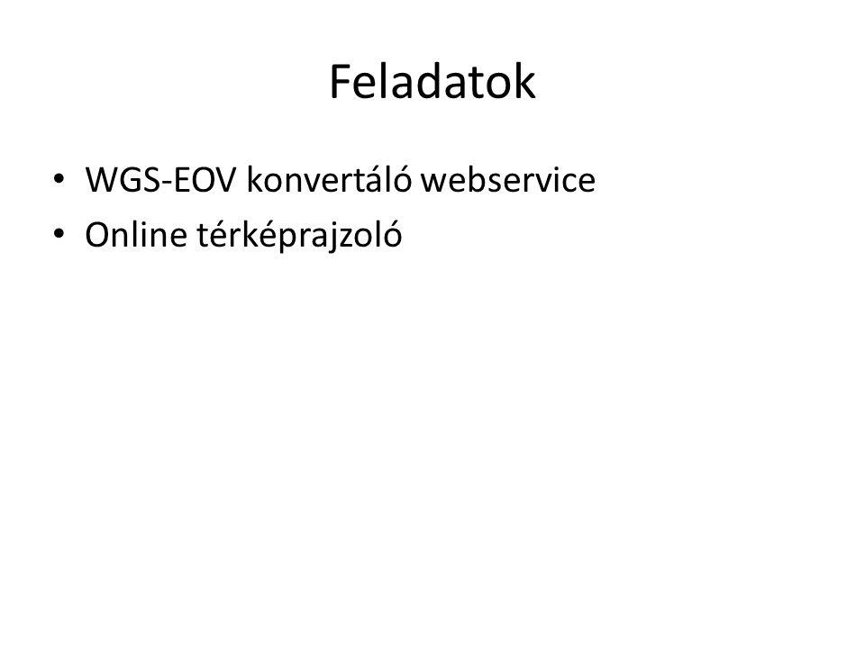 Webservice - Funkciók A konverzióhoz az előzetes kutatások során azonosított (pontosság, gyorsaság, hozzáférhetőség alapján) legmegfelelőbb algoritmus azonosítása.
