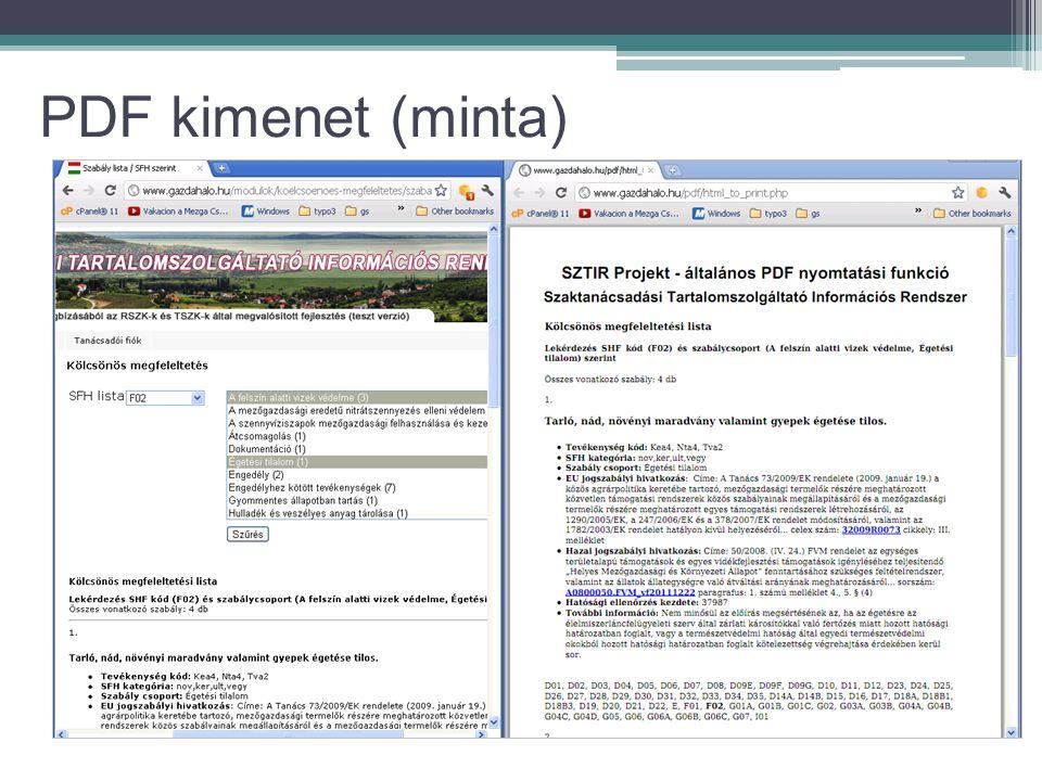 PDF kimenet (minta)