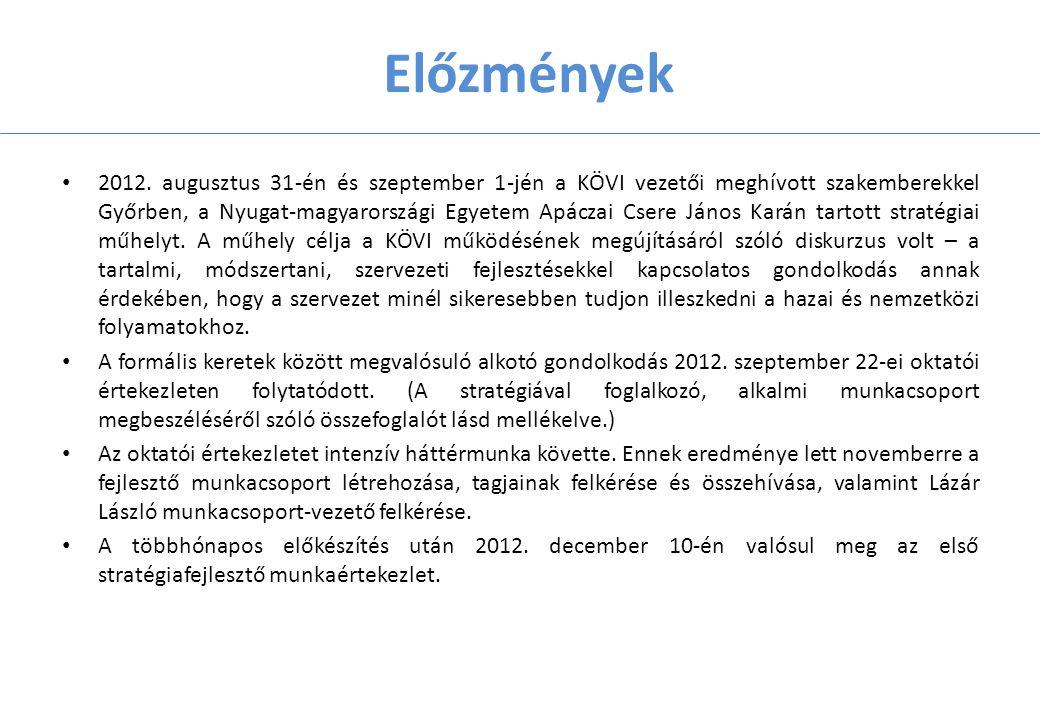 Előzmények 2012.