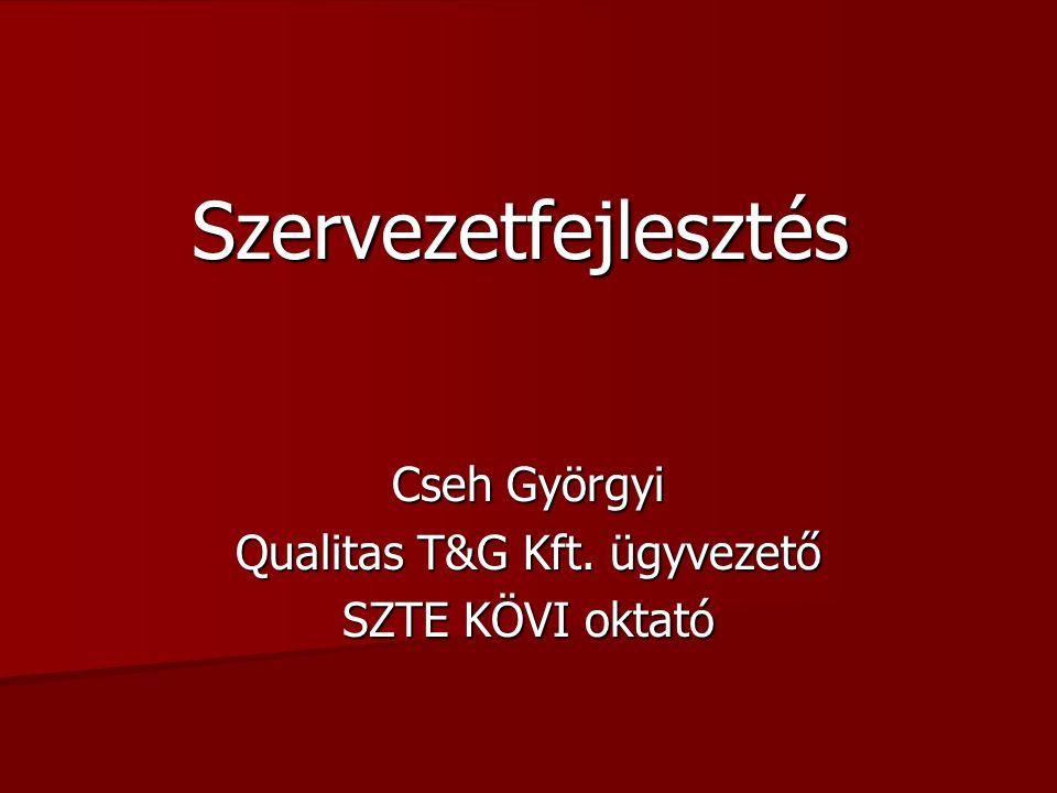 Szegedi TudományegyetemSzervezetfejlesztés2/ Az összeállítás a következő szakirodalmak felhasználásával készült: Bakacsi Gyula (1998): Szervezeti magatartás és vezetés.